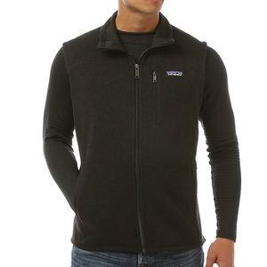 men's patagonia better sweater black vest